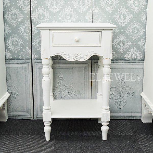 【Country Corner】  ロマンスコレクション♪ ベッドサイドテーブル (W43×D35×H69cm)