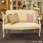<B>【セール!】</B>【Fiore】ロココ調白家具 ソファ・ホワイト×ピンクゴールド