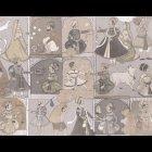 輸入壁紙<b>【フランス・PIERRE FREY】</b>GINGER ベージュ系 136cm巾×1m