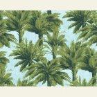 輸入壁紙<b>【フランス・PIERRE FREY】</b>ジャングル柄 MAURITIUS グリーン系 140cm巾×1m