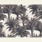 輸入壁紙<b>【フランス・PIERRE FREY】</b>ジャングル柄 MAURITIUS ブラック系 140cm巾×1m
