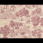 輸入壁紙<b>【フランス・PIERRE FREY】</b>トワルドジュイ柄 RANGOON ピンク系 52cm巾×10.05m巻