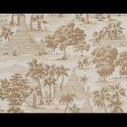 輸入壁紙<b>【フランス・PIERRE FREY】</b>トワルドジュイ柄 RANGOON ブラウン系 52cm巾×10.05m巻