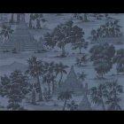 輸入壁紙<b>【フランス・PIERRE FREY】</b>トワルドジュイ柄 RANGOON ブルー系 52cm巾×10.05m巻