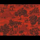 輸入壁紙<b>【フランス・PIERRE FREY】</b>トワルドジュイ柄 RANGOON レッド系 52cm巾×10.05m巻