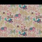 輸入壁紙<b>【フランス・PIERRE FREY】</b>JARDIN DE MYSORE アイボリー×ピンク系 137cm巾×1m