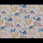 輸入壁紙<b>【フランス・PIERRE FREY】</b>JARDIN DE MYSORE ベージュ×ブルー系 137cm巾×1m