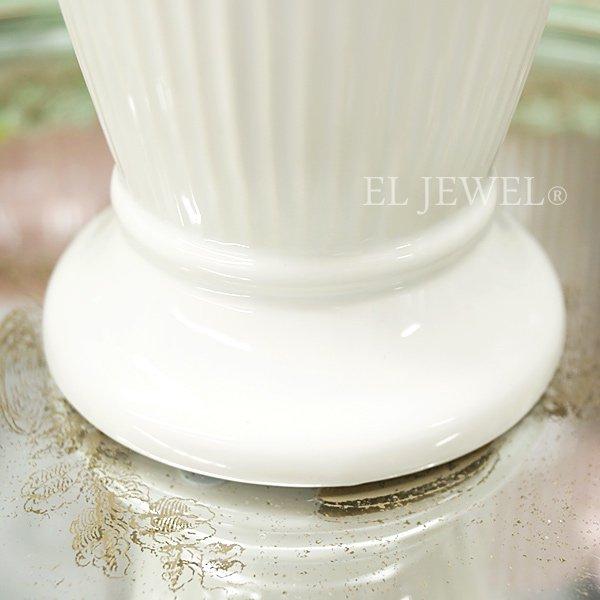 【即納可!】【フラワーベース】「ENTASIS」オフホワイト Lサイズ(φ10.5×H19cm)