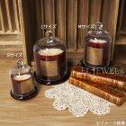 <b>【即納可!】</b>フレグランス付き♪ ガラスドーム付きキャンドル Lサイズ レッド(φ13.5×H17cm)