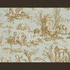 輸入壁紙<b>【フランス・PIERRE FREY】</b>トワルドジュイ柄 COUTANCES ブルー系 69cm巾×4.5m巻