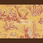 輸入壁紙<b>【フランス・PIERRE FREY】</b>トワルドジュイ柄 COUTANCES レッド系 69cm巾×4.5m巻