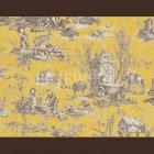 輸入壁紙<b>【フランス・PIERRE FREY】</b>トワルドジュイ柄 COUTANCES イエロー系 69cm巾×4.5m巻