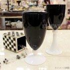 <b>【入荷未定】</b>【フラワーベース】「BxW Glass」ブラック×ホワイト(φ10×H21cm)
