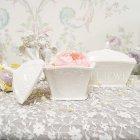 <b>【入荷未定】</b>【フラワーベース】「Petit Palais」花器 オフホワイト(W10×H11cm)