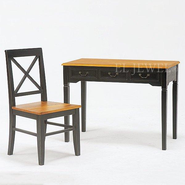 【セール!】【BROCANTE】シャビースタイル♪チェア・ブラック(W45.5×D49×H90・SH43cm)