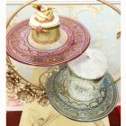 【即納可!】エレガントなおもてなしに♪ トルコ製 ケーキプレート ピンク(φ21.5cm)