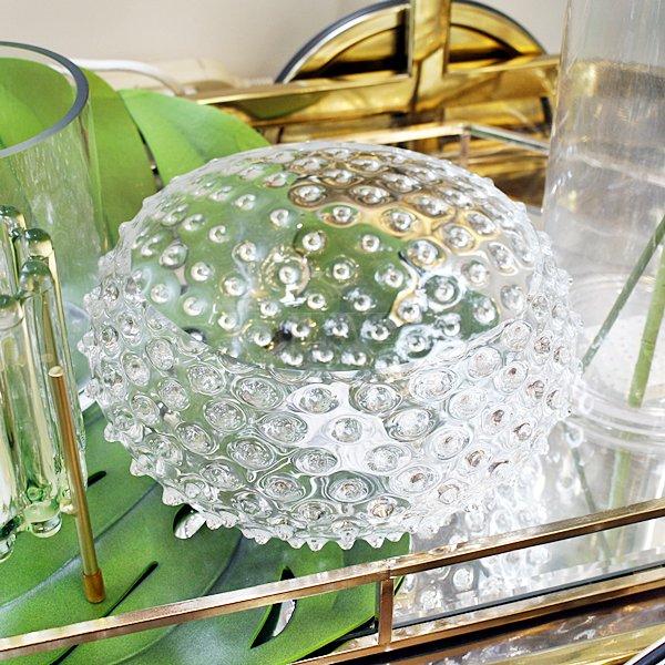 【35%OFF】【chehoma】ベルギー製 ボヘミアンガラス・「ダイアモンドボウル」(φ22.5×H11cm)