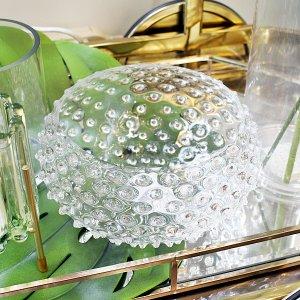 <b>【即納可!】【chehoma】</b>ベルギー製 ボヘミアンガラス・「ダイアモンドボウル」(φ22.5×H11cm)