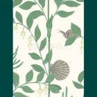 ≪海外取り寄せ品≫輸入壁紙<b>【イギリス・Cole&Son】</b>ジャングル柄 SECRET GARDEN ダークグリーン 52cm巾×10m巻