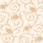 ≪国内在庫品≫輸入壁紙<b>【ドイツ・A.S. Creation】</b>Villa Rosso ホワイト×オレンジ 53cm巾×10m巻