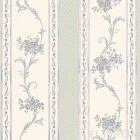 ≪国内在庫品≫輸入壁紙<b>【ドイツ・A.S. Creation】</b>Villa Rosso 花柄 グリーン×ブルー 53cm巾×10m巻