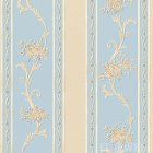 ≪国内在庫品≫輸入壁紙<b>【ドイツ・A.S. Creation】</b>Villa Rosso 花柄 イエロー×ブルー 53cm巾×10m巻