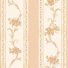 ≪国内在庫品≫輸入壁紙<b>【ドイツ・A.S. Creation】</b>Villa Rosso 花柄 ホワイト×オレンジ 53cm巾×10m巻