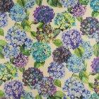 ≪国内在庫品≫輸入ファブリック<b>【イギリス・DESIGNERS GUILD】</b>madhuri Sudara Lino 紫陽花 花柄 Azure 137cm巾×1m巻