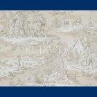 輸入壁紙<b>【フランス・BRAQUENIE】</b>トワルドジュイ柄  MATIN MIDI SOIR ベージュ色 68.6cm巾×10.05m巻