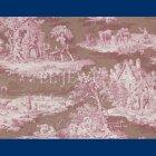 輸入壁紙<b>【フランス・BRAQUENIE】</b>トワルドジュイ柄  MATIN MIDI SOIR ローズ色 68.6cm巾×10.05m巻