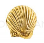 イタリア製 真鍮フック 「シェル」 ゴールド (W4.4×D3.1×H4.4cm)