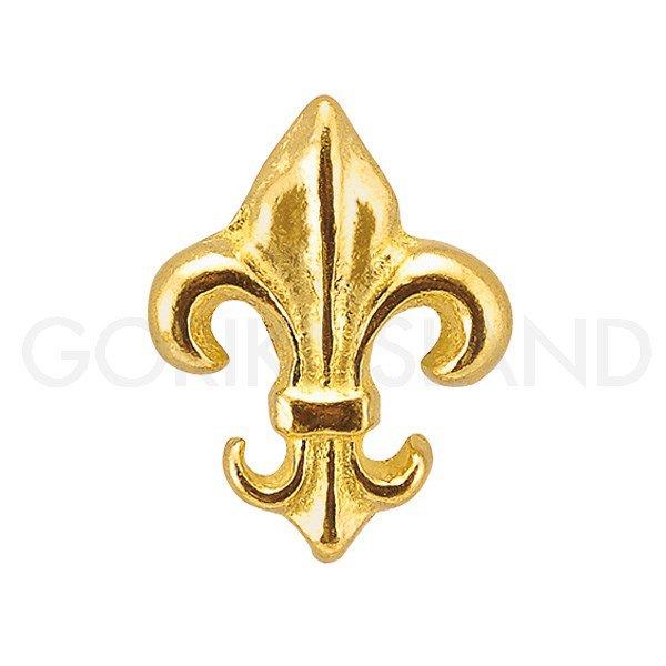 真鍮製 取っ手 (つまみ) 「リリー」 ゴールド (W3×D2×H3.8cm)**