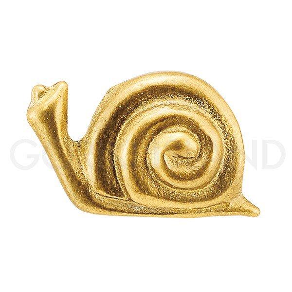 真鍮製 取っ手 (つまみ) 「カタツムリ」 ゴールド (W5.3×D2.9×H3.3cm)**