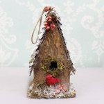 <b>【即納可!】</b>クリスマスアイテム♪ バードハウス Sサイズ (W12×D9×H22cm)