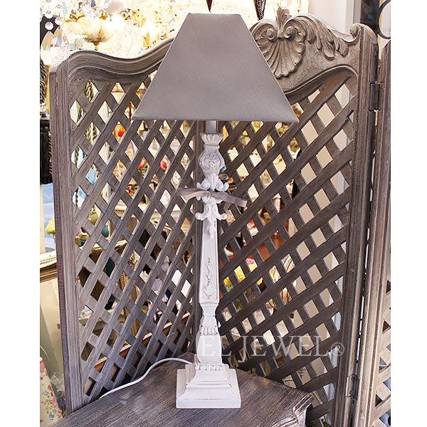 【即納可!】【Mathilde M.】 フランス製 フレンチシック・シェードテーブルライト 1灯(W30×H81cm)