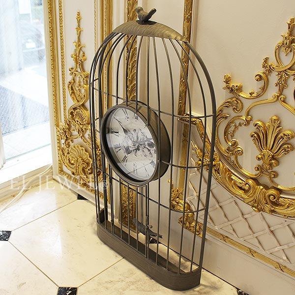 【セール!】【即納可!】【Mathilde M.】 フランス製バードケージクロック(W47×D10.5×H84cm)