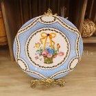 <b>【入荷未定】</b>ブリキ製 ディスプレイプレート「Basket of Flowers」 (φ26×D1.3cm)