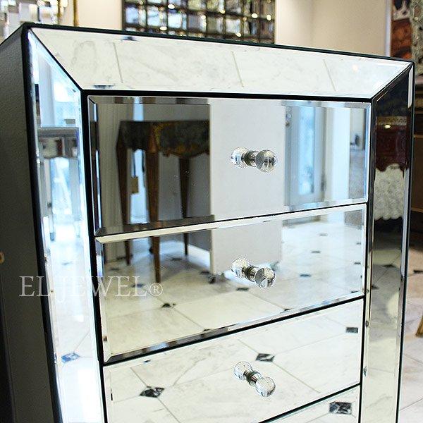 【入荷未定】【ミラー家具】スペイン高級ミラー家具【Garcia Requejo】5段チェスト(W48×D33×H86cm)