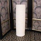 <b>【入荷未定】</b>【フラワーベース】「EarthenwareCylinder」フラワーベース・ホワイト(φ10×H35cm)