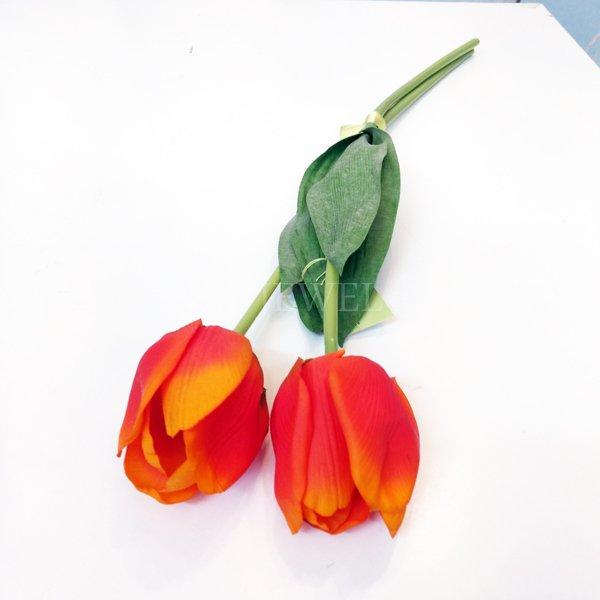 【即納可!】【artificial flower】「チューリップ」オレンジ系 1本(花径6×花丈7×L48cm)