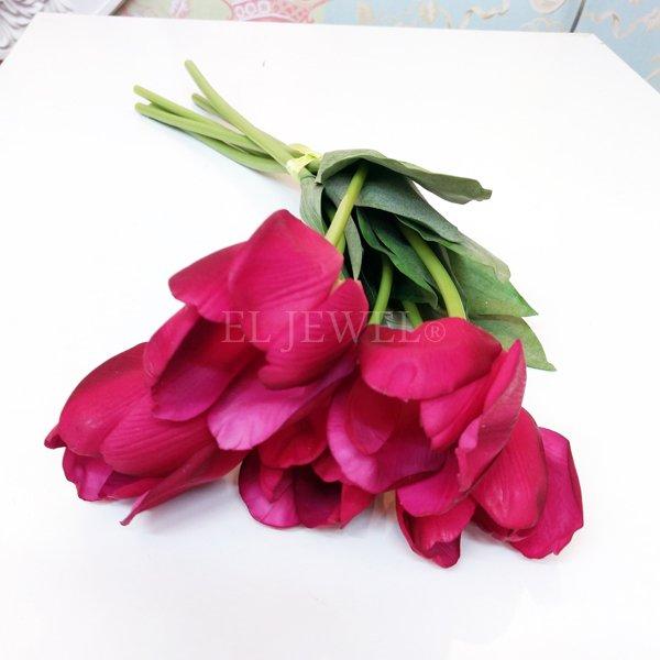 【即納可!】【artificial flower】「チューリップ」ローズピンク系 1本(花径6×花丈7×L48cm)