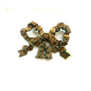 <B>【即納可!】</B>【フランス-EMDE】ウォールリボンデコ・アンティークゴールド(W21×H15cm)