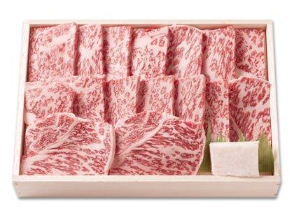 [御歳暮限定]神戸菊水黒毛和牛ロース焼肉用 800g[ラッピング/折箱入]