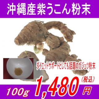 沖縄産100%紫ウコン(ガジュツ)粉末パウダー100g