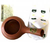 焙じ茶器 ほうじ器(朱泥)ミトン付