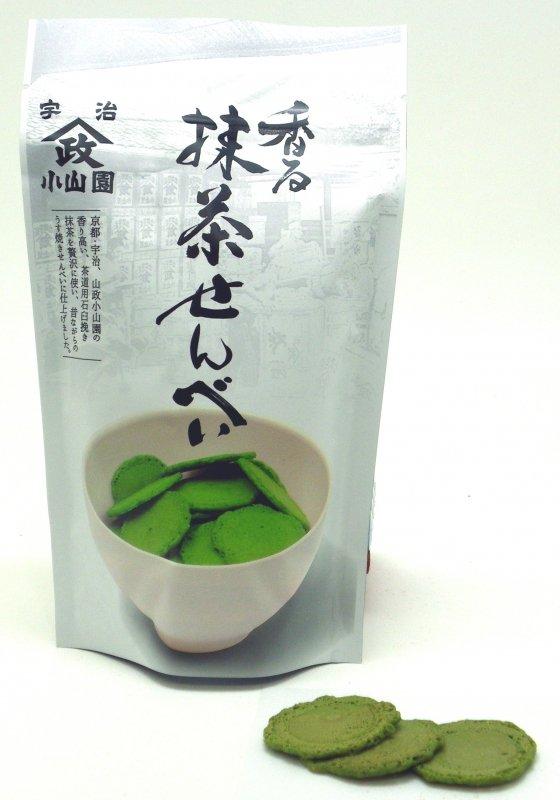 抹茶せんべい 60g (山政小山園の抹茶菓子)