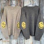 7G ウール スマイリー クルーセーター