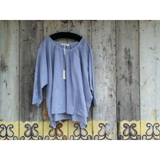 2013summer44[ARTE POVERA]ストライプギャザリングシャツ-2