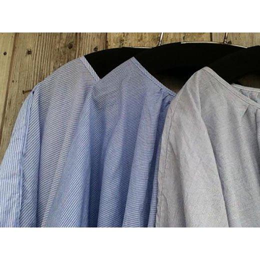 2013summer44[ARTE POVERA]ストライプギャザリングシャツ-3