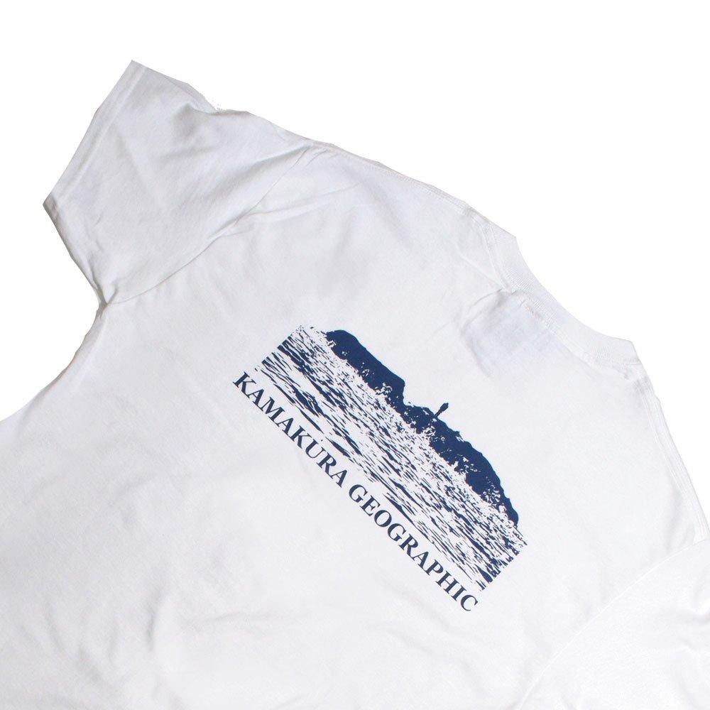【鎌Tシャツ / 江の島 (ホワイト)バックプリント】<br>  オリジナルTシャツ